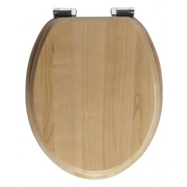 Allibert Amazone wc bril softclose Massief hout Smoked acacia